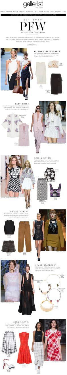 pfw, paris fashion week, newsletter, fashion, gallerist, layout, tendências, moda