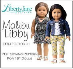 CD DOLL CLOTHES PATTERN BUNDLE - MALIBU LIBBY COLLECTION