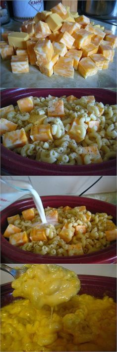 Crock Pot Macaroni and *NOTE: pre-cook the macaroni 4-6 minutes first. New link added: