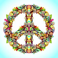 ✪☯☮ॐ American Hippie Psychedelic Art Peace Signs ☮