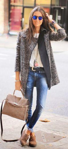 Grey Tweed Jacket by BCN Fashionista