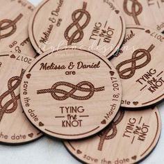 Tying the Knot Save the Date Magnets - Laser cut and Etched on Wood Wood Projects, Projects To Try, Craft Projects, Wood Crafts, Diy And Crafts, Xmax, Laser Engraving, Engraving Ideas, Save The Date Magnets