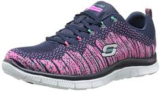 Skechers Sport Womens Talent Flair Fashion Sneaker NavyMulti TextileTrim 7 M US *** Find out more about the great product at the affiliate link Amazon.com on image.