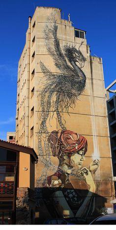 Thessaloniki, Greece. Sept., 2012 Illustration Art, Illustrations, Thessaloniki, Street Art Graffiti, Chalk Art, City Streets, Macedonia, Street Artists, Urban Art