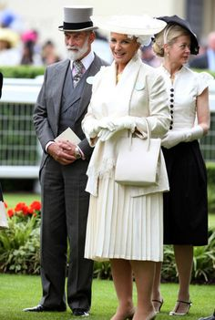 Prince and Princess Michael (with Lady Helen Taylor in background),  Royal Ascot, 18 June 2013