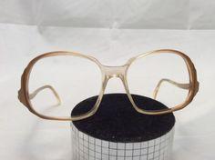 VINTAGE Women's Peach Eyeglass Frames Glasses Melanie Evergreen Retro Hipster 70's 80's