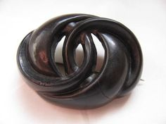 Victorian Vulcanite Brooch With Patent by victoriansentiments, $90.00