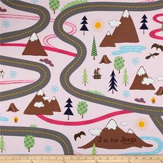 Riley Blake J is for Jeep Canvas Pink from @fabricdotcom  Screen printed on lightweight cotton canvas, this versatile fabric is from Riley Blake Designs and Jeep. Perfect for window accents (draperies, valances, curtains and swags), accent pillows, duvet covers and some upholstery projects. Create handbags, tote bags, aprons and more. Colors include brown, white, light brown, golden orange, shades of blue and pink, green, light green and grey.