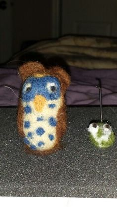Owl and Tiny frog