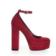 Γυναικείες γόβες Sante από συνθετικό καστόρι σε μπορντό απόχρωση, με λουράκι στον αστράγαλο. Διαθέτει δερμάτινο πάτο. Ύψος τακουνιού 13cm. και φιάπα 3cm. Fall Winter, Platform, Detail, Heels, Fashion, Moda, Shoes Heels, Fasion, Heel