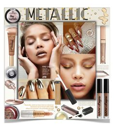 """""""Metallic Make-Up"""" by fassionista ❤ liked on Polyvore featuring beauty, Urban Decay, Manic Panic NYC, NYX, Sanders, Topshop, Too Faced Cosmetics, Mariah Carey, Christian Dior and Max Factor"""