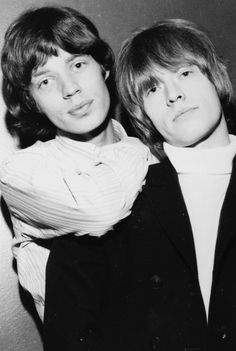 Mick Jagger and Brian Jones, 1965.