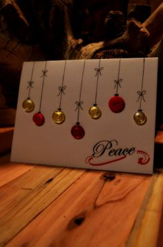 2013 Homemade Christmas Card Peace by CACTUSYOGIS on Etsy, $8.50