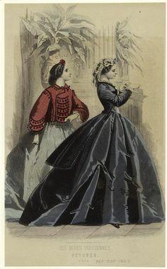 Fashion plate short saque civil war era fashion