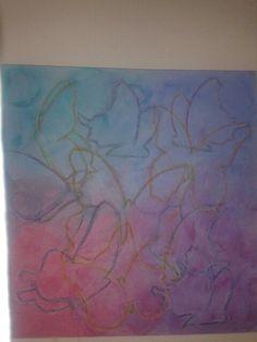 Acrylmaleri oliefarve sommerfugle