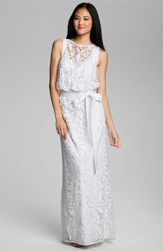 Tadashi Shoji Embroidered Lace Blouson Gown available at #Nordstrom $388 on 8/31/2012