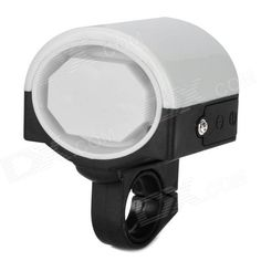 Bicycle Electronic Plastic Horn - Black   White (2 x AAA) Price: $4.40
