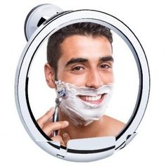 A fog free shower mirror!  The moisture and steam from a warm shower make it the most comfortable and effective place for a man to shave. Unfortunately for anyone who is second in the morning bathroom schedule, a steamy mirror makes this more difficult – hence the fog free shower mirror.