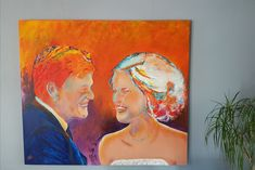Colourful portret made for 2 lovely people. Paintings, People, Color, Art, Art Background, Paint, Painting Art, Colour, Kunst