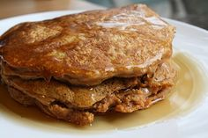 Sweet Potato Pancakes are the perfect way to start the day!  #sweetpotatoes #sweetpotatopancakes #cleaneatingpancakes