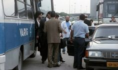 Very rare photo of Prince getting off bus in Rio de Janeiro, Brazil. Nude Tour 1990