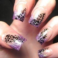 Animal acrylic nails designs