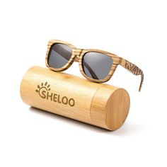 e382421451d SHELOO Wooden sunglasses Hand-made From Zebra Wood 100% UV400 Polarized  Lens  fashion  clothing  shoes  accessories  unisexclothingshoesaccs ...