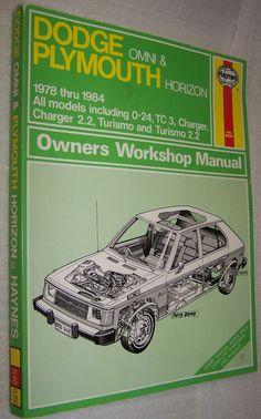 Haynes Dodge Omni & Plymouth Horizon 1978 thru 19984 Repair Manual Book