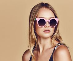 Poppy Lissiman x Lazy Oaf Pastel Biscuit Sunglasses