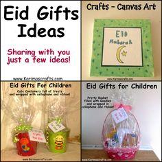 Karima's Crafts: Eid Gifts Ideas - 30 Days of Ramadan Crafts muslim islamic Eid Crafts, Ramadan Crafts, Kids Gift Baskets, Easter Baskets, Boyfriend Gift Basket, Boyfriend Gifts, Diy Eid Decorations, Islamic Celebrations, Ramadan Activities