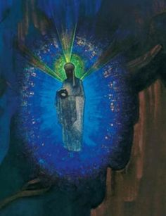 Nicholas Roerich Art | Extract of the painting Fiat Rex, by Nicholas Roerich. It seems to be ...