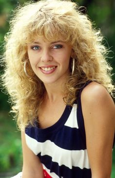 Kylie Minogue in the 80's.