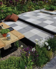 Our range of beautiful porcelain, natural stone and concrete paving slabs are designed to help you transform your garden or patio into a stunning showpiece, tranquil retreat or functional entertaining space. Concrete Paving Slabs, Patio Slabs, Paved Patio, Concrete Patio, Bradstone Paving, Paving Stones, Contemporary Garden Design, Landscape Design, Landscape Architecture