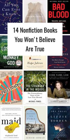 Books You Won't Believe Are True 14 nonfiction books you won't believe are true.Believe It or Not Believe It or Not may refer to:Nonfiction Books Best Books To Read, I Love Books, New Books, Good Books, Book To Read, Best Non Fiction Books, Books That Are Movies, Read Aloud Books, Book Club Books