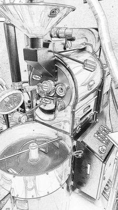 Coffee Roaster - The Nuances Of A Good Coffee Coffee Cafe, Iced Coffee, Coffee Shop, Roasters Coffee, Coffee Doodle, Coffee Artwork, Café Chocolate, Coffee Tattoos, Tostadas