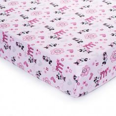 Minnie Mouse Fitted Crib Sheet