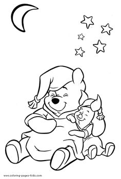 Winnie the Pooh coloring pages on Coloring-Book.info | 350x236