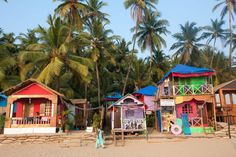 Picturesque Palolem Beach, enclosed by thick coconut palms, is south Goa& most popular beach. Plan your trip there with this travel information. Palolem Beach Huts, Beach Trip, Vacation Trips, Vacation Mood, Namaste, Places Around The World, Around The Worlds, Portuguese Culture, Goa India