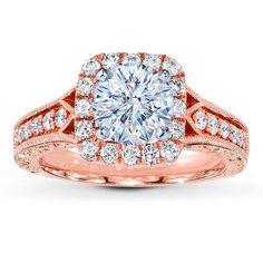 IN LOVE ! Diamond Ring Setting 1/2 ct tw Round-cut 14K Rose Gold