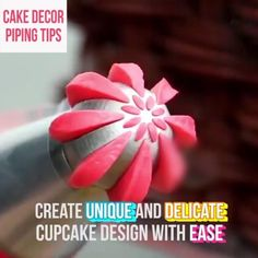 Whether you're an expert decorator or just starting to learn, this tip set should be a staple in your kitchen.  This delicate piping set allows you to create enticingly elaborate designs on cupcakes that will leave everyone stupefied! With the coupler and piping bag included, this set makes your cake decoration experience much easier! Cake Decorating Videos, Cake Decorating Techniques, Cookie Decorating, Decorating Supplies, Russian Cake Decorating Tips, Cake Decorating Piping, Kreative Desserts, Piping Bag, Creative Cakes
