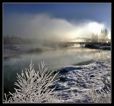 This photo from British Columbia, Western is titled 'Allouette Mist'. Fraser Valley, British Columbia, Niagara Falls, Mists, Westerns, North America, Canada, River, Nature