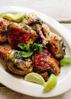 Peruvian-Style Grilled Chicken With Green Sauce | Recipe | Grilled ...