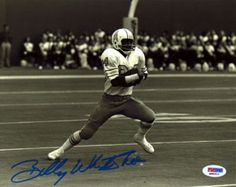 """Billy """"""""White Shoes"""""""" Johnson Autographed 8x10 Photo Houston Oilers PSA/DNA Stock #16572"""