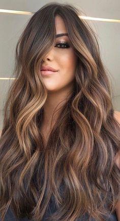 Brown Hair Inspo, Highlights For Dark Brown Hair, Brown Hair Balayage, Light Brown Hair, Hair Color Balayage, Hair Highlights, Ombre Hair, Brown Blonde Hair, Hair Color For Black Hair
