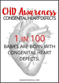 Learn basic facts about Congenital Heart Defects, the most common birth defect, and ways you can help support the cause and spread CHD awareness! Chd Awareness, Congenital Heart Defect, Medical Information, Heart Disease, To My Daughter, Tattoo Quotes, Learning, Raising, Birth