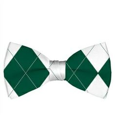 Green & White Argyle Mens Bow Tie by Loudmouth Golf.  Buy it @ ReadyGolf.com Golf Green, Mens Golf, Men's Apparel, Bows, Tie, Arches, Clothes For Men, Bowties