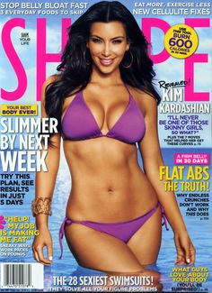 Kim Kardashian shape magazine June 2010