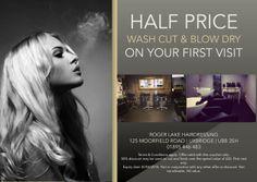 Hair salon flyer offering discounts