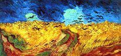 Vincent van Gogh Weizenfeld mit Raben Entstehung 1890 in Auvers, Öl auf Leinwand, 50 x 100 cm