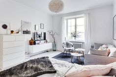 Feminine studio apartment in Stockholm |Alexander White | Sweden | Scandinavian interior